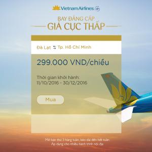 Thông tin khuyến mãi vé máy bay 22/10 VIETNAM AIRLINES
