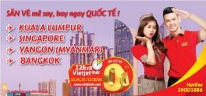 300,000 vé Vietjet Air giờ vàng vi vu khắp Đông Nam Á