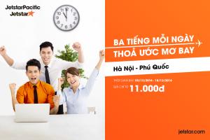 Hà Nội- Phú Quốc 11.000 với JetstarPacific